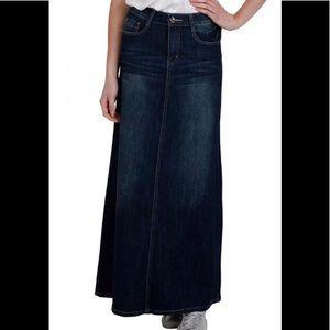 CINDY-H Paris Denim Maxi Skirt